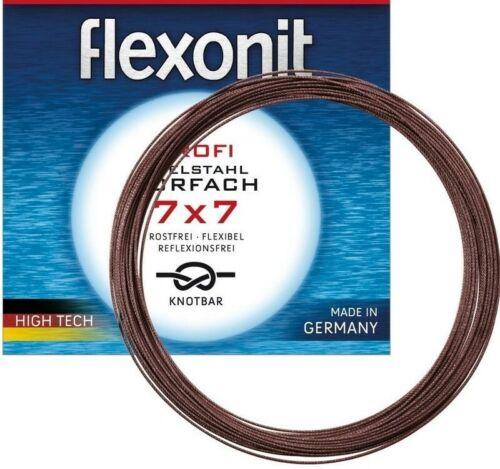 Flexonit 7x7 20 Meter Stahlvorfach 0.27 0.36 0.45 0.54 auf ORIGINAL Spule !!!