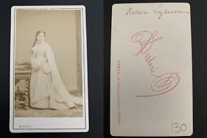 Disderi-Paris-Victoria-Lafontaine-actrice-Vintage-carte-de-visite-CDV
