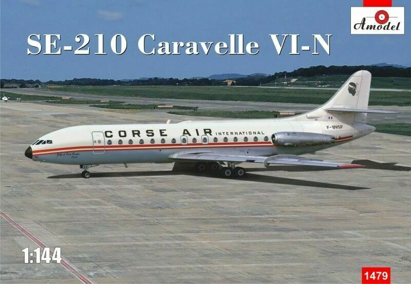 Amodel 1479 - 1 144 SE-210 Caravelle VI-N Course Air, scale plastic model kit