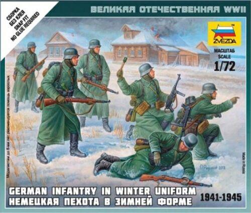 Zvezda 6198 - 1/72 Wargame Addon Deutsche Infanterie (Winteruniform) - Neu