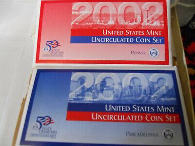2002 D US Mint State Quarters Uncirculated Set