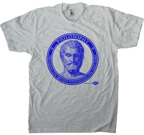 Funny Philosophy Tee Snarky Philosophy Men/'s T-shirt