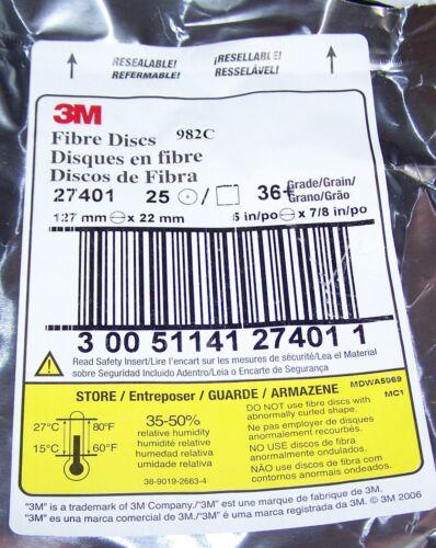 """3M CUBRITRON FIBRE DISCS 5/"""" DIAMETER 982C 27401 5"""