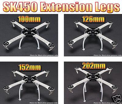 Extended Nylon Landing Skid Set for SK450 Multi-Rotor Quadcopter Frame - 4 SIZES
