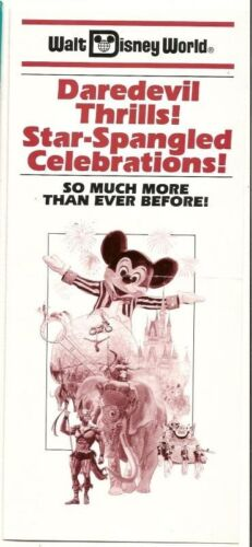 1988 Walt Disney World Ticket Price guide Pamphlet