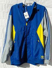 NEW adidas Jacket Windbreaker Original Teorado REVERSIBLE Mens Unisex Med. Blue
