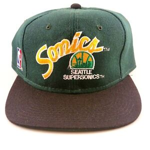 Vintage-Seattle-SuperSonics-Sport-Specialties-Fitted-Hat-Size-7-1-8-Wool-Blend