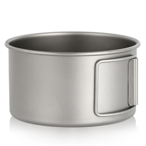 Lixada Titanium Bowl w//Folding Handles Dinner Food Container for Outdoor Camping