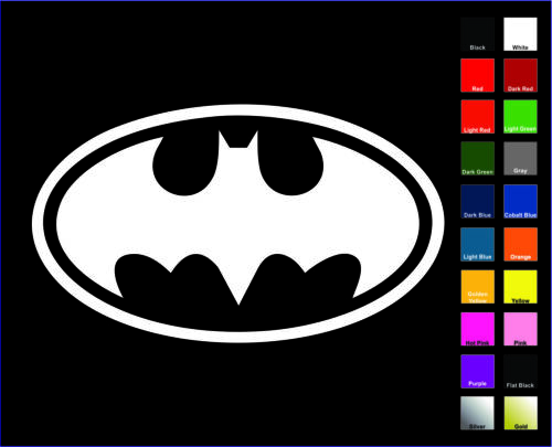 Bruce Wayne Batman OL Decal//Autocollant-Choisir Couleur /& Taille-Logo symbole
