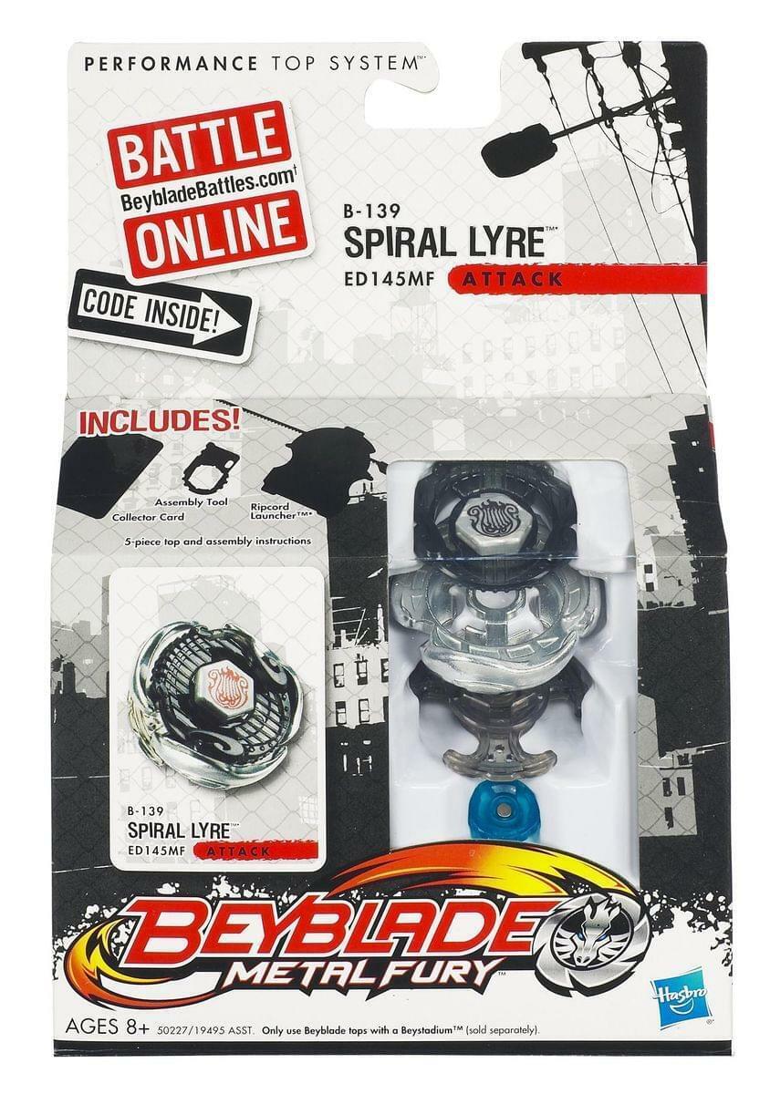 Beyblade Metal Fusion Battle Top Wave 7 B-139 Spiral Lyre