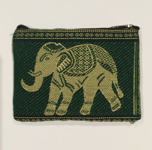 Elephant Design Purse hand made in Thailand Brand New!