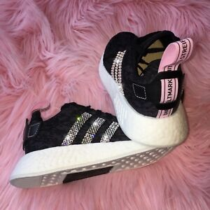 890740ad6 Bling Adidas NMD R2 Women s Shoes w  Swarovski Crystals - Black ...
