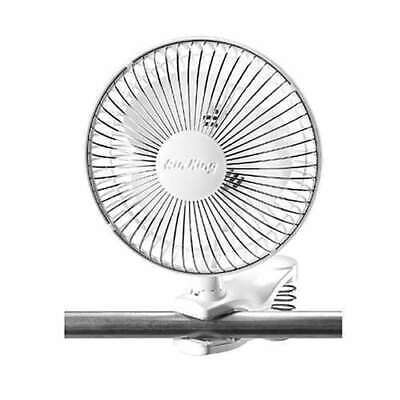 """6 inch CLIP ON FAN 2 speed grow light King 6/"""" 9145 air active acfc6 circulating"""