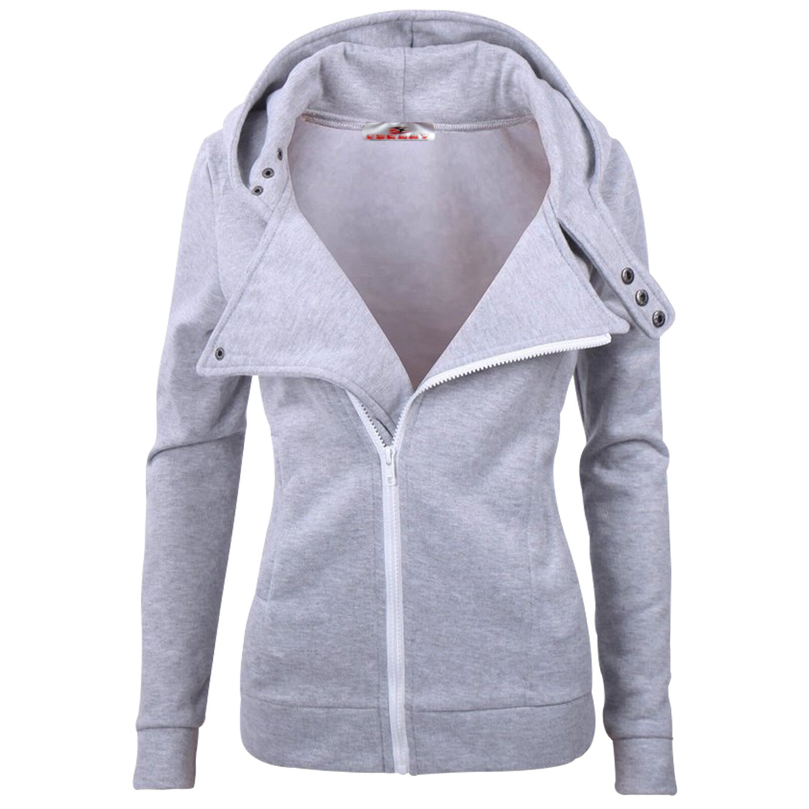 Long zip up hoodie