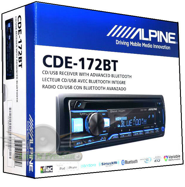 Alpine CDE-172BT In Dash CD/MP3/USB/AUX Built-in Bluetooth /Pandora Car Stereo