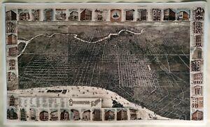 Hi-Q-XL-Format-034-3D-034-Burke-amp-McFetridge-1886-Map-of-Philadelphia-Facsimile-Poster