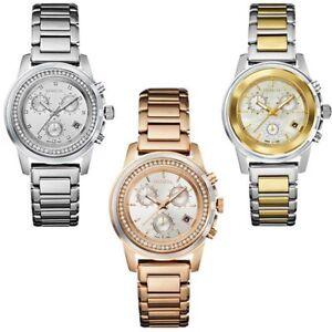 Orologio-Cronografo-Donna-Breil-Cassa-Acciaio-PVD-Oro-Rosa-Bicolore-Datario