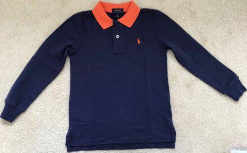 New Ralph Lauren Boys Long Sleeved Polo-Shirt S8 Years-Slim fit