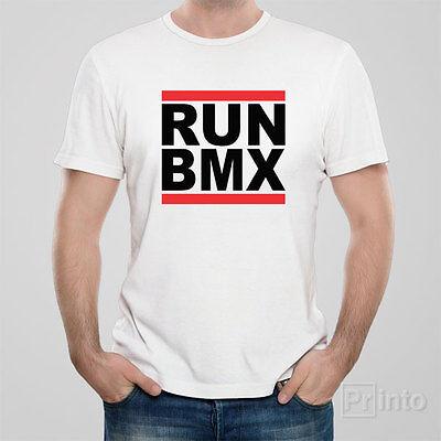 Black Or white RUN BMX Tshirt Bike T Shirt Like RUN DMC