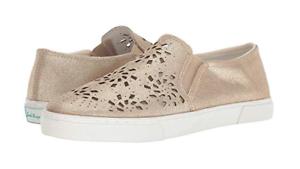 NIB Jack Rogers Women's Violet Leather Slip On Shoes in Platinum