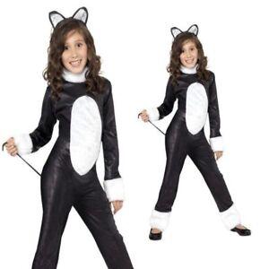 Child Cool Cat Kitty Costume Girls Book Week Day Halloween Fancy