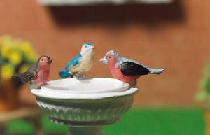 Dollhouse Miniature Bird Blue Brown B 1:12 one inch scale H135 Dollys Gallery
