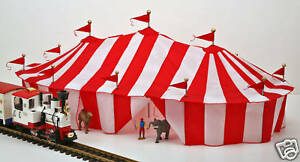Image is loading LGB-Wilson-Brothers-Circus-Scale-3-Ring-Tent- & LGB Wilson Brothers Circus Scale 3 Ring Tent Made in the USA NEW ...