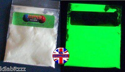 BRIGHT ZZ3 pigment powder Glow in the dark GREEN luminescent luminous 20g