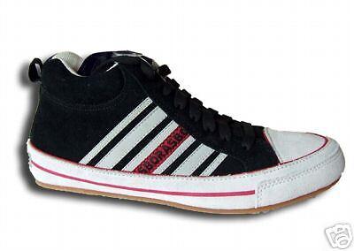 Herren  Sneakers  Leder    knöchelhoch  Leder    BORAS     schwarz/weiß/rot   Gr. 45 1e9cf3