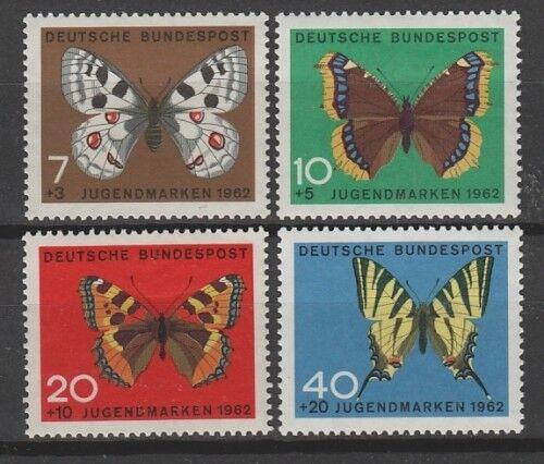 Bund 376-379 ** Jugend 1962 Schmetterlinge