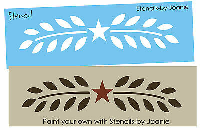 "Primitive Stencil 10/"" Willow Wheat Star Country Branch Vine Leaf Art Sign Blocks"