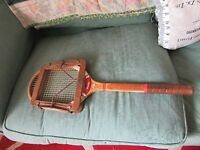 Vintage DUNLOP MAXPLY  Wooden Tennis Racket With Press  Made in England