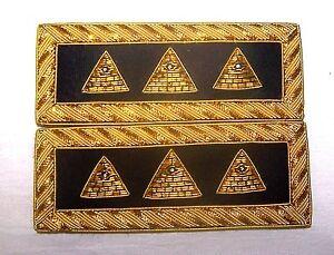 Details about NWO Illuminati Secret Occult Officer Uniform Boards Straps  Alien Soldier UFO 666