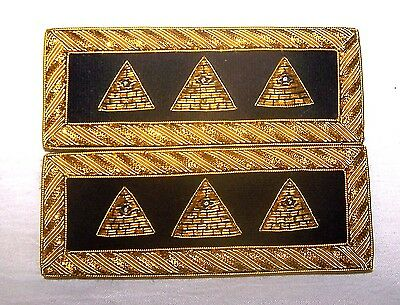 NWO Illuminati Secret Lodge Occult Officer Uniform Boards Alien UFO Ra Straps X