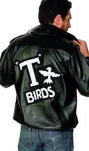 Mens Grease T-Bird Jacket Danny T Bird Fancy Dress Costume Size 38-50