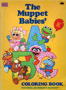 Muppet babies coloring book RARE UNUSED | eBay