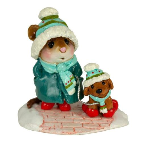 Limited Edition 2019 Mouse WFF# M-180a Wee Forest Folk CHILLY DOG TEAL