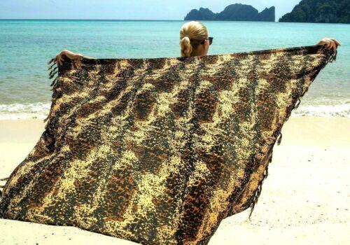 Mu Mu  Beautiful!! WRAP Exotic Cheetah Cat Print SARONG