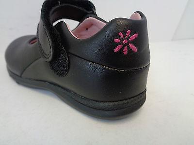 Mädchen Schwarzes Leder Haken & Schlaufe Start Rite Schuhe Frenzi