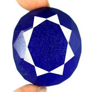 Birthday Gift Natural African Blue Sapphire Loose Gemstone 192.80 Ct Oval Cut