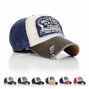 New-Men-Women-Vintage-Retro-Motorcycle-Caps-Baseball-Golf-Cotton-Adjustable-Hat