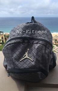 Nike Jordan Jumpman Backpack Gym Bag LapTop Bag Grey 9A1115-783 NWT ... e429e88e2f91e
