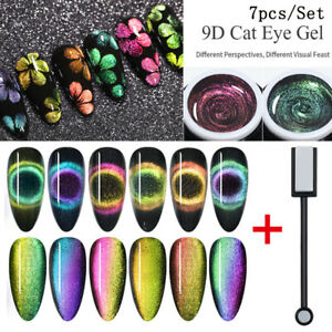 7Pcs-Set-BORN-PRETTY-9D-Cat-Eye-UV-Gel-Polish-Abloesen-Gel-Nagel-Magnetic-Stick