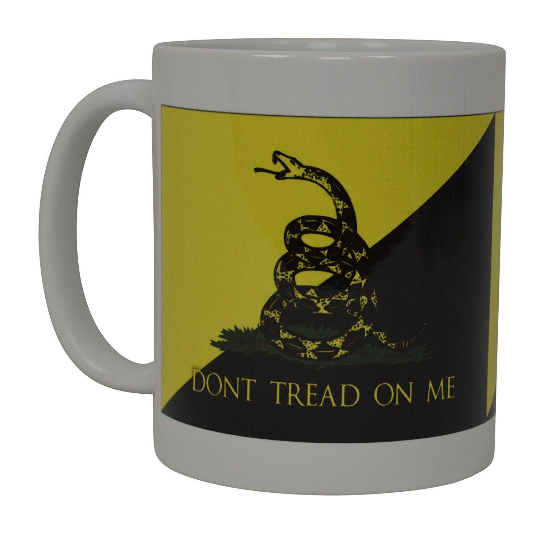 4X Coffee Mug Gadsden Flag American Patriot Don't Tread on Me Novelty Cup Gift