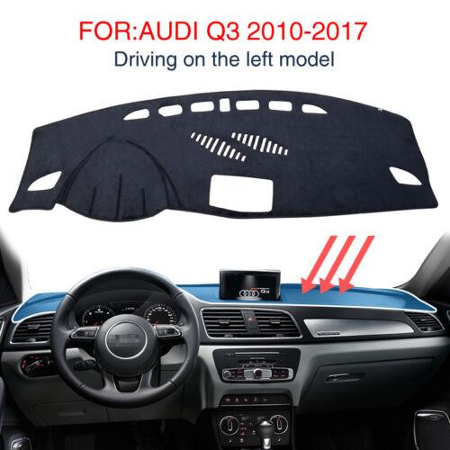 FOR:AUDI Q3 2010-2017 Dash Mat Car Dashboard Automotive interior Black Carpet