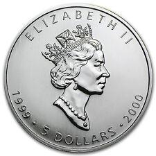 1999/2000 1 oz Silver Canadian Maple Leaf Coin - Millennium Privy - SKU #11064