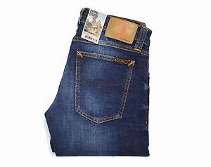 Nudie-Jeans-Tight-Long-John-Calm-Blues-Blau-Baumwolle-111404-Skinny-Neu
