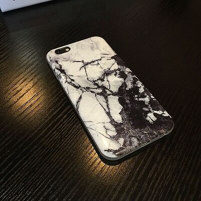 New Glossy Print Crystal Granite Marble Soft Gel Case Cover for iPhone 6 6S Plus