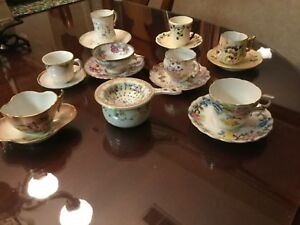 Vintage-18-pieces-DEMITASSE-cup-and-saucers-Occupied-Japan-Germany-Austria-WOW