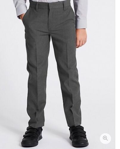 Marks and Spencer Boys Grey  2 Pk School Trousers Age 4 Years